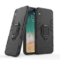 Wholesale cellphone car case online – Business Ring Grip Kickstand Cellphone Accessories Magnet Car Phone Case Ring Holder Case for iPhone pro Max X XS XR XSMAX