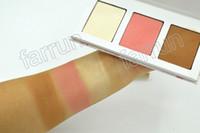 Wholesale powder for dark skin for sale - Group buy 3 color palette of concealer cm g highlighter palette use for eyeshadow color team