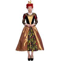 ingrosso costumi dei cuori della regina-New Sweet Women Alice Wonderland Heart Queen Costume Cosplay Vintage Corte Dress Halloween Poison Queen Costume