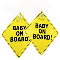 autodachschilder großhandel-5pcs Baby an Bord Warnung Sicherheits-Zeichen-Auto-Träger-Fenster-Vinyl mit Saugnapf