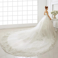 Wholesale wedding tulle brush dresses for sale - 2019 New Vestidos De Novia Sweetheart Sleeveless Floor Length Long Wedding Dresses Lace Up Cathedral Brush Train Mermaid Trumpet Gowns