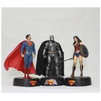 Wholesale boys super heroes resale online - Super Hero Figure Wonder Woman Movie Figures Cm Gift For Children Boy Girl America Eco Friendly tc D1