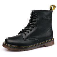 botas hombres großhandel-Leder Winter Warm Martin Stiefel Schuhe Mann Ankle Boot Plus Size Oxfords Schuhe Botas De Hombre