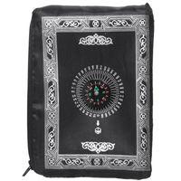 Wholesale pocket prayer mats for sale - Group buy New Ramadan Islamic And Muslim Travel Prayer Mats Compass Pocket Size Tote Bags Black