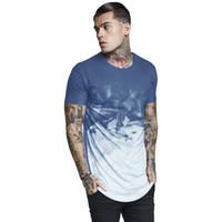 minces t-shirts achat en gros de-Mens EU Taille T shirts D'été D'imprimé Designer TSHIRT Mince New Longline Mode Casual Tops À Manches Courtes