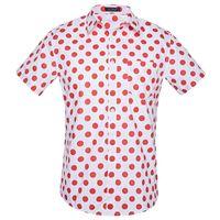 männer polka kleid hemden groihandel-Mode Kleine Tupfen-Druck-Hemd Mann-Sommer-neue kurze Hülsen-Hawaiihemd-Mann-beiläufige plus Größen-Kleid Shirts Camisas
