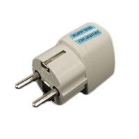 Wholesale european power plug adapter resale online - High Quality white Universal Pin UK US AU To EU EURO France Germany Travel adapter Adaptor AC Power Plug Convert European