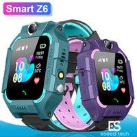 ребенок отслеживать часы водонепроницаемый оптовых-Z6 Дети Bluetooth Смарт Часы IP67 Водонепроницаемый SIM-Карта LBS Трекер SOS Дети Smartwatch Для iPhone Android Смартфон