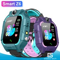 Wholesale child tracker watch waterproof online – Z6 Children Bluetooth Smart Watch IP67 Waterproof SIM Card LBS Tracker SOS Kids Smartwatch For iPhone Android Smartphone