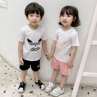 Wholesale jacket double breasted kids for sale - Group buy Kids Designer Clothes Girls Boys AD Letter T shirt Shorts kids Tracksuit Two Piece suit Brand kids short set Summer Outfit C52501