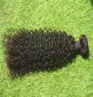 cabelo curvado brasileiro não processado 6a venda por atacado-6a Não Transformados Extensões de Cabelo Virgem 10-30 Polegadas Brasileiro Kinky Curly Hair Tecer 100% Cabelo Humano Weave