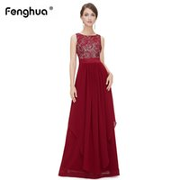 9c50aaa61d1 Fenghua Sleeveless Sommerkleider Frauen 2019 Frühling Schwarze Spitze  Langes Kleid Schlank Sexy Elegante Chiffon Hochzeit Maxi Kleid 2XL Y190117