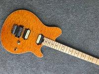 musicien de guitare achat en gros de-JEYb6043 Musicman Guitare électrique Placage d'érable matelassé 5A de couleur jaune Floyd Rose Bridge, plus disponible en couleur Peut choisir