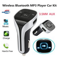Wholesale electronic parts accessories resale online - Automotive electronics Parts and Accessories Handsfree Bluetooth Wireless Car Kit FM Transmitter Radio MP3 Player USB Charger