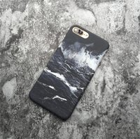 Wholesale ocean waves oil painted resale online - Oil painting ocean wave black and white anti shock anti shock mobile phone protective case mobile phone case FOR iphone6 S X plus