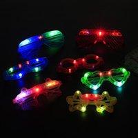 novo led dj venda por atacado-lot New luminescentes Led Óculos Discoteca óculos bar DJ Performing partes adereços decorativos para homens e mulheres 2111