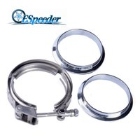 Wholesale v band clamps resale online - ESPEEDER Inch Stainless Steel V Band Clamp Flange Clamp Mild Steel Male Female Flange For Turbo Exhaust Downpipe Clip