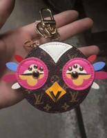 Wholesale bag purse pendants for sale - Group buy 2020 Magicfur Cute Owl Real Fur Chick Charm Leather Mini Coin Cards Keys Holder Purse Zipper Pocket Bag Keychain Holder Pendant