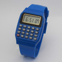 Wholesale calculator watch for sale - Group buy Calculator watch exam watch led student electronic math watch