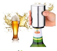 flaschenöffner magnete großhandel-Silber Bier Flaschenöffner mit Magnetverschluss Catcher Edelstahl Magnet Glasöffner Küche Bar Accessoris Wein Dosenöffner