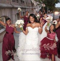 Wholesale nigeria white satin wedding dresses resale online - 2019 Hot African Nigeria Mermaid Wedding Dresses Off Shoulder Crystal Beaded Tiered Ruffles Court Train Custom Plus Size Formal Bridal Gowns