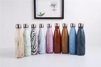 ingrosso vaso a doppio strato-Bottiglie di Cola 17oz Doppi Strati Bottiglie di Vuoto In Acciaio Inox 500 ML Tazze Creative Bottiglie di Acqua di Bowling Bottiglie di Bottiglia di Salute
