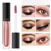 ingrosso perle liquide-Trucco Shiny Liquid Eyeshadow High Gloss ombretto Pallete Monochrome Pearl Liquid Eye Shadow maquiagem Profissional completa