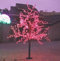 ingrosso ciliegio principale blu-972 Pz LED 6ft Altezza LED Cherry Blossom Tree LED Albero di Natale Luce Impermeabile 110 / 220VAC ROSSO / Rosa / BLU Colore Esterno Uso 1 pz