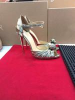 ingrosso pompe di glitter sexy-2019 elegante bowtie pompe donne sexy scarpe a punta tacchi alti glitter dress scarpe tacco a spillo partito scarpe taglia 34-41