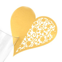 Wholesale hearts paper cups for sale - Group buy 10Pcs Hollow Flower Heart Shape Cup Paper Card Message Tags Wedding Souvenirs Favors Christmas Festive Party Supply H55E