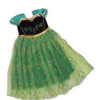 Wholesale girl clothe for sale - Group buy Little Girls Princess Dress Printed Flying Sleeve Gauze Ball Gown Dress Baby Girl Dresses Kids Designer Clothes Girls T