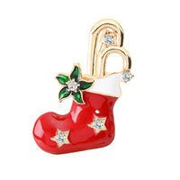 Wholesale christmas brooches for sale - 2019 Latest Christmas Stock Brooch Pin Cute Personality Design Brooch Denim Hat Hat Decoration Best Christmas Gift For Friends Family