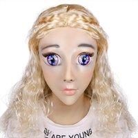 benutzerdefinierte sexy maske groihandel-Erstklassige benutzerdefinierte Luxus-Make-up-Calaxy Kig Baby DMS-Maske Miss Rose! Silikon sexy weibliche crossdress maske corssdresser puppe maske