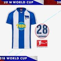 ingrosso vendite camicia da calcio-Maglia da calcio Hertha Berlino 2019 19 20 Home bianco blu away nero 2019 2020 maglia da calcio per adulti Felpa Uniforme S-XXL Saldi