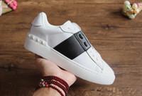 zapatos famosos mujer al por mayor-Vendaje negro zapatos hombres al por mayor de las mujeres rhinestone zapatos de alta superior famoso diseñador para hombre loubbis marca zapatos con caja y tamaño dus 35-46