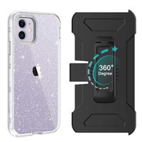 Wholesale case cover iphone glitter online – custom For Iphone Case with Built In Screen Protector Clear Glitter Case Heavy Duty Full Body Protection Cover with Clip for iPhone Pro Max