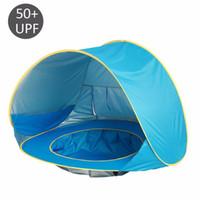 ingrosso all'aperto pop up tende bambini-Baby Beach Tenda impermeabile Pop-Up portatile Piscina ombreggiata Protezione UV Riparo per bambini da campeggio per bambini all'aperto Spiaggia parasole