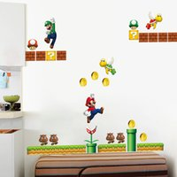 Wholesale super mario decal stickers for sale - Group buy Super Mario Kids Nursery Removable Wall Decal Vinyl Stickers Art Home Decor