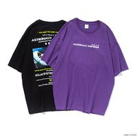 Wholesale new graphic tees for sale – custom 2019 New Arrivals Graphic Tees Loose T shirt Men Summer Black purple T shirts Printing Couple Skateboards Tshirt