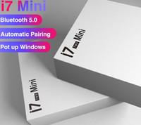 caja de paquetes de auriculares al por mayor-I7S Mini TWS Bluetooth 5.0 Auriculares Auriculares inalámbricos Auriculares Auriculares dobles con caja de carga para teléfono con paquete minorista