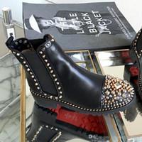 reiner oberschenkelstiefel großhandel-Neue Frauen Ankle Boots Ts Croc 35 mm Luxuxentwerfer Stiefel Damen Stiefeletten Fashion Classics Top-Qualität Größe 35-41 mit Box