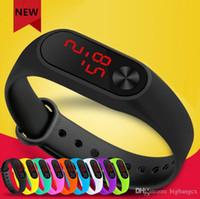 mode-displays großhandel-Neue männer frauen led rechteck armbanduhr mode sportuhren outdoor fitness uhr led-anzeige touch digital armbanduhr