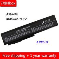 batería de 6 celdas al por mayor-7XINbox 6 celdas 5200mAh 11.1V A32-A32-M50 N61 A32-X64 A33-M50 batería del ordenador portátil para Asus N53S N53J N53JQ N43 G50 G60 X55 N61JQ X55V