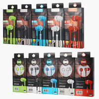 Wholesale wire games resale online - SF A66 boxequipped with line mobile phone headset In ear headphones line control with wheat universal gift game headset