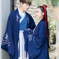 traditioneller kleidermann großhandel-Hanfu Männer chinesischer Volkstanz Kostüm für Frau Hanfu Cosplay alte Kostüme chinesische Bluse Tops traditionelles Hochzeitskleid