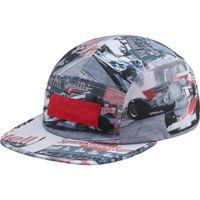 kutu takibi toptan satış-19SS KUTUSU LOGOSU Grand Prix Kampı Kap Mektup Logosu Yarış pisti Şapka Kap Moda Sokak Seyahat Sunhat Rahat Güneş Şapka Açık Spor Şapka HFSSMZ001