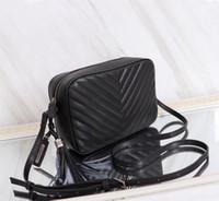 çantalar çantalar çantaları toptan satış-Sıcak satış Yeni Stil V Tipi kaliteli Deri 23 cm bayan marka vintage kılıf Moda casual ünlü lüks Omuz çanta çanta çanta