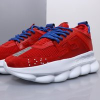 Wholesale floral mesh chain for sale - Group buy Fashion Mens Womens brand chain Medusa Sneakers Chain linked Reaction Trainers Lightweight Outdoor Runner Lovers Casual Shoes