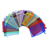 Wholesale xl gift bags for sale - Group buy Multicolor Jewelry Bag Organza Drawstring Pouch For Jewelry Packaging Storage Wedding Favor Chirstmas Gift Wrap Bag Multi size