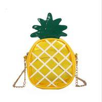 ingrosso i bambini del sacchetto della gelatina-Sacchetti trasparenti della borsa di marca dei bambini delle borse a tracolla della catena della borsa del messaggero dell'ananas della gelatina trasparente delle borse belle delle neonate DHL libero